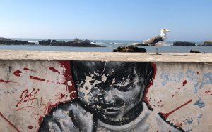 Ragazzi in Marocco murales